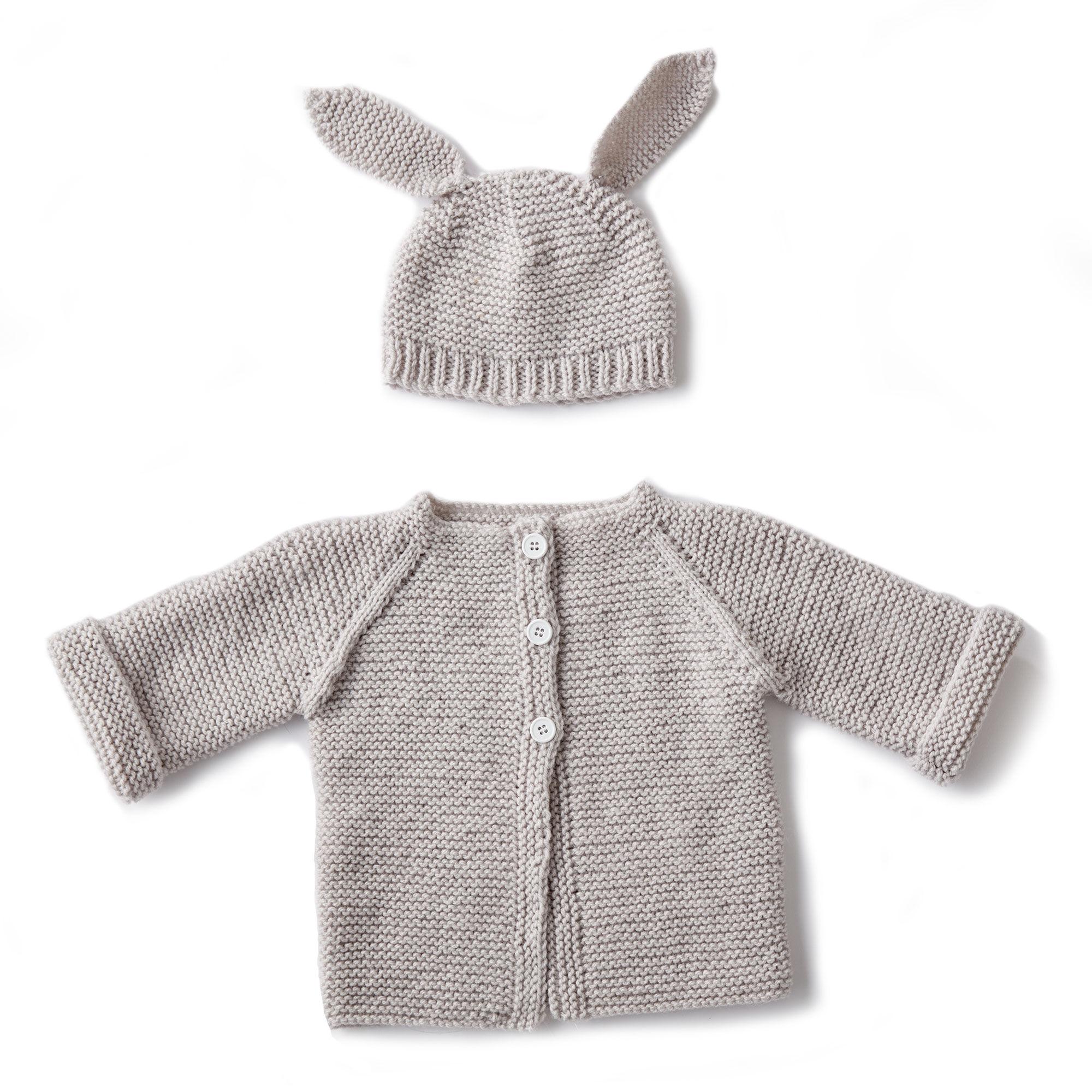 88e7f9abf Bernat Knit Baby Jacket Set, Newborn | Yarnspirations