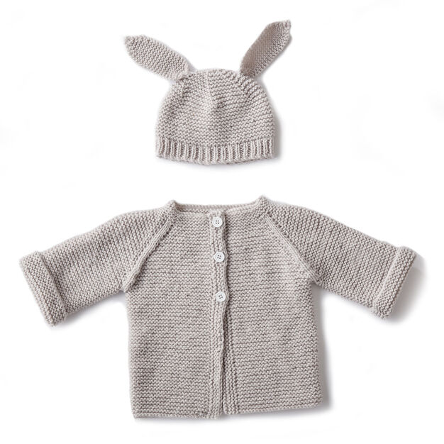 15db556c1 Bernat Knit Baby Jacket Set