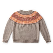 Patons Cumberland Knit Yoke Sweater, Version 1 - XS/S