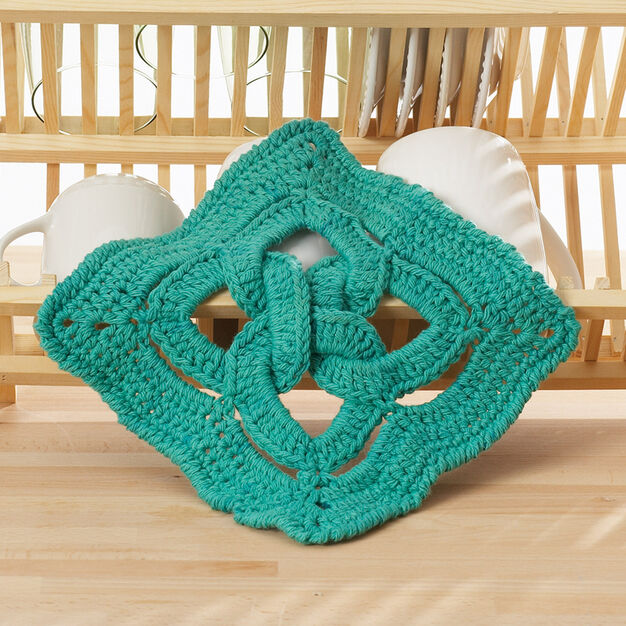 Lily Sugar'n Cream Celtic Knot Dishcloth in color
