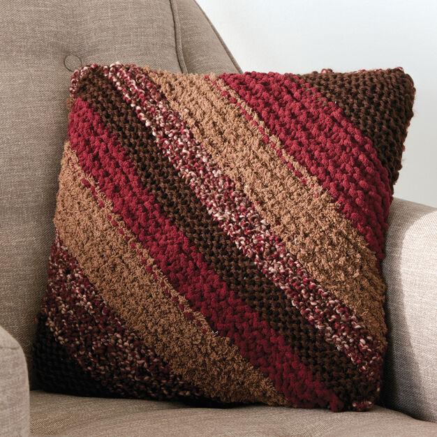 Bernat Corner to Corner Knit Pillow