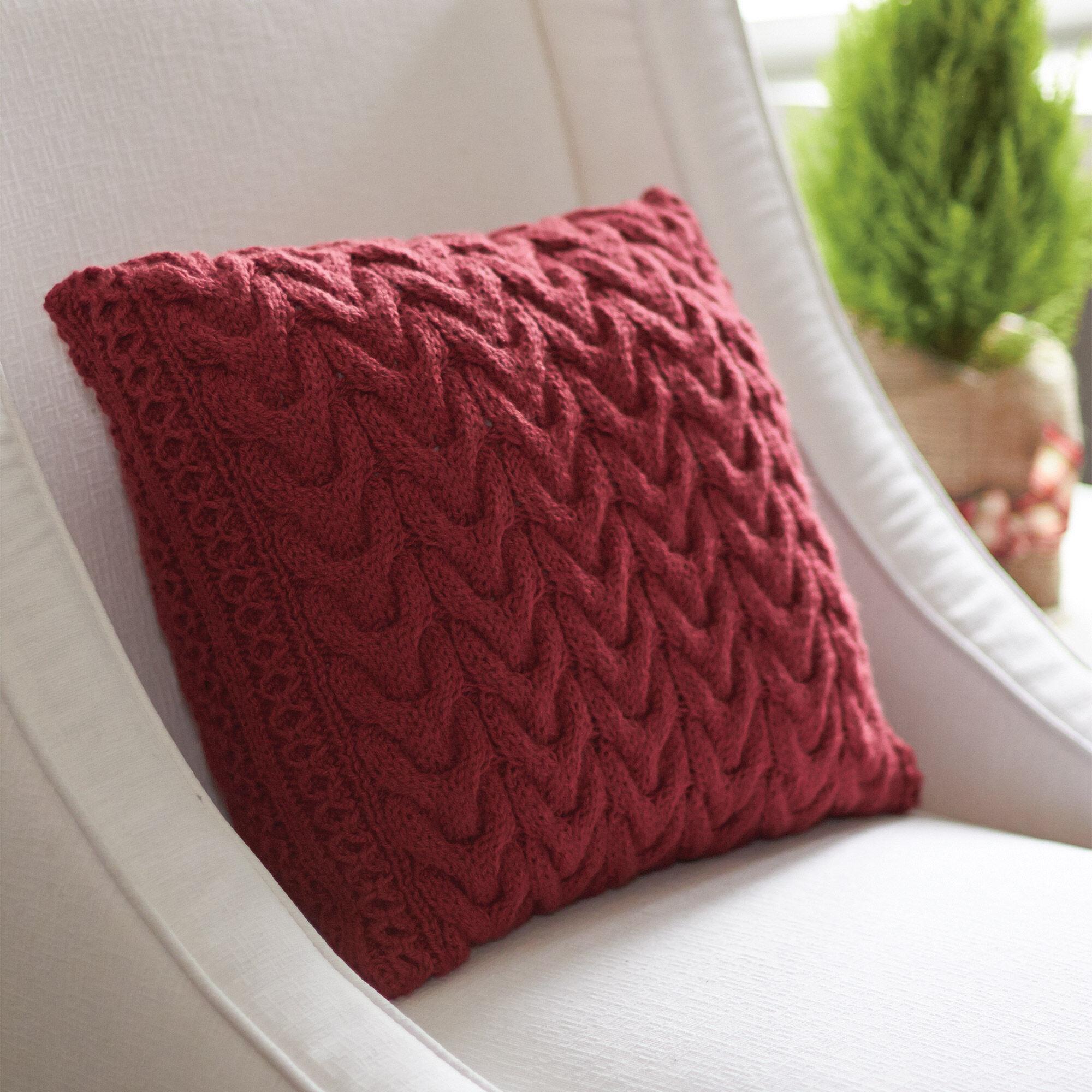 Patons Christmas Cables Pillow | Yarnspirations