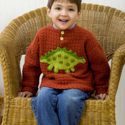 Red Heart Boy's Dino Sweater, 2 yrs
