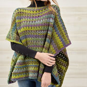 Red Heart Perfect Poncho, S/M