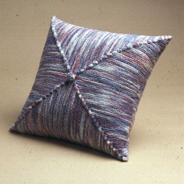 Patons Diagonal Square Pillow in color