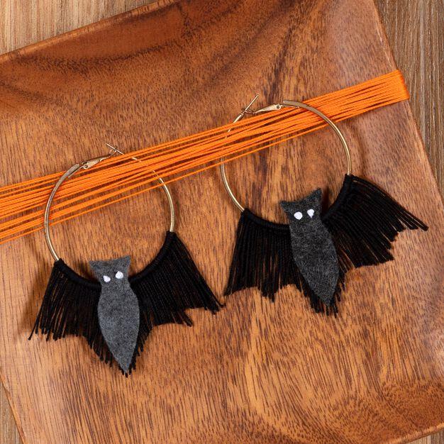 Aunt Lydia's Halloween Bat Earrings in color