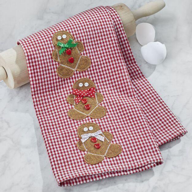 Dual Duty Gingerbread Towel