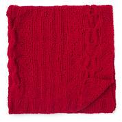 Bernat Horseshoe Cable Blanket & Pillow