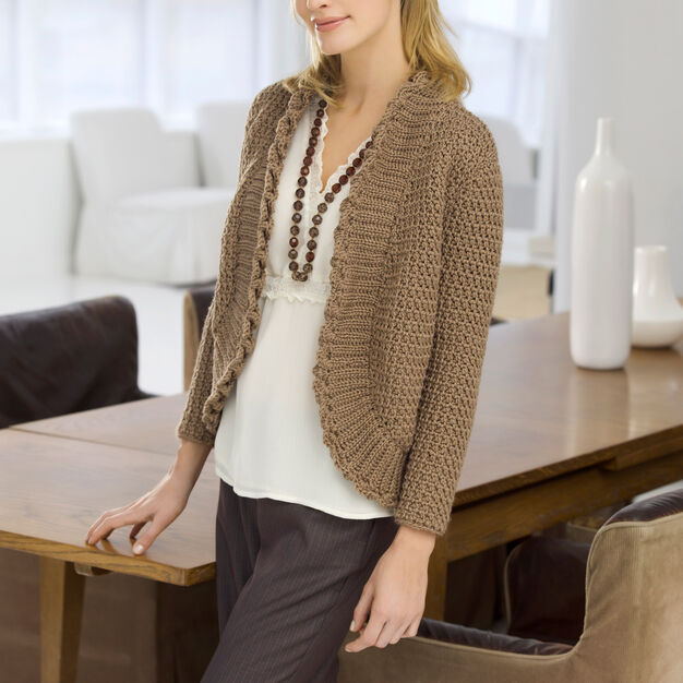 Red Heart Roundabout Cardigan, S in color