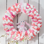 Red Heart Pompom Wreath