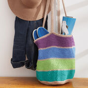 Lily Sugar'n Cream Striped Market Tote Bag, Version 1