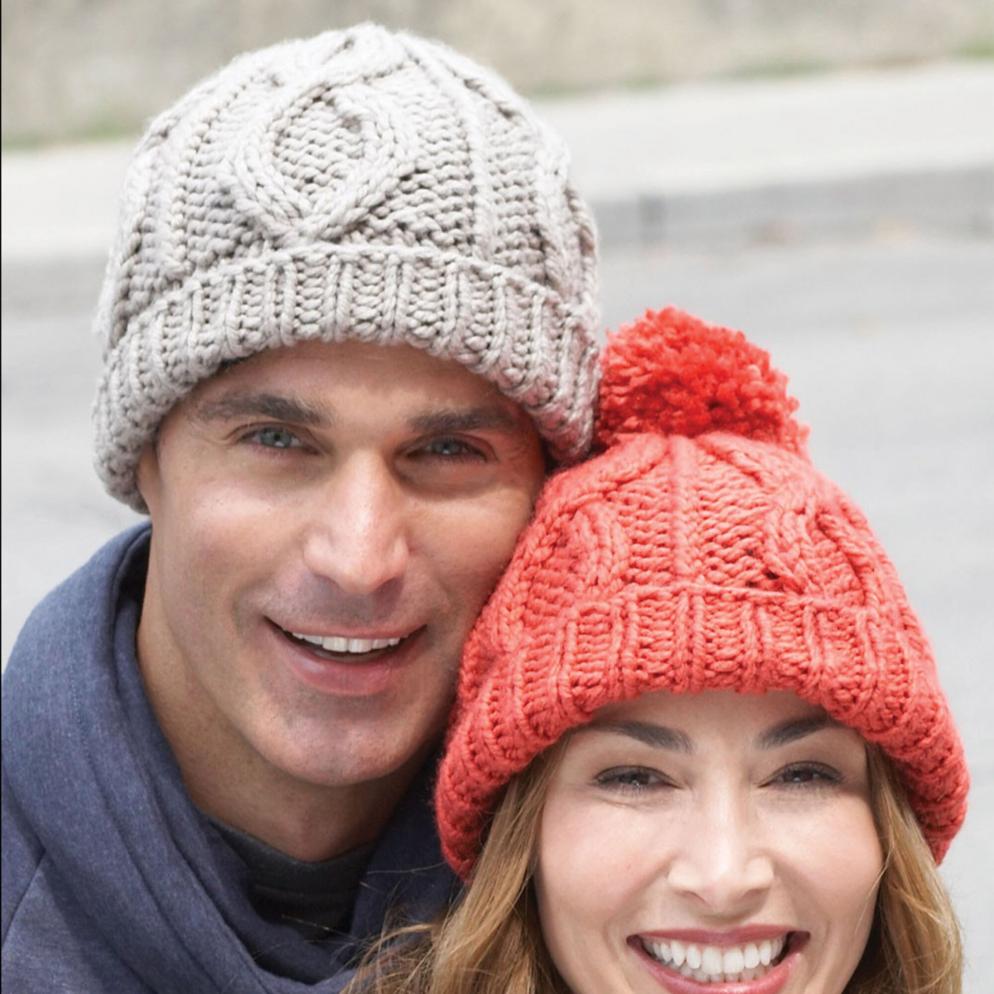 Bernat Cable Hat, His | Yarnspirations