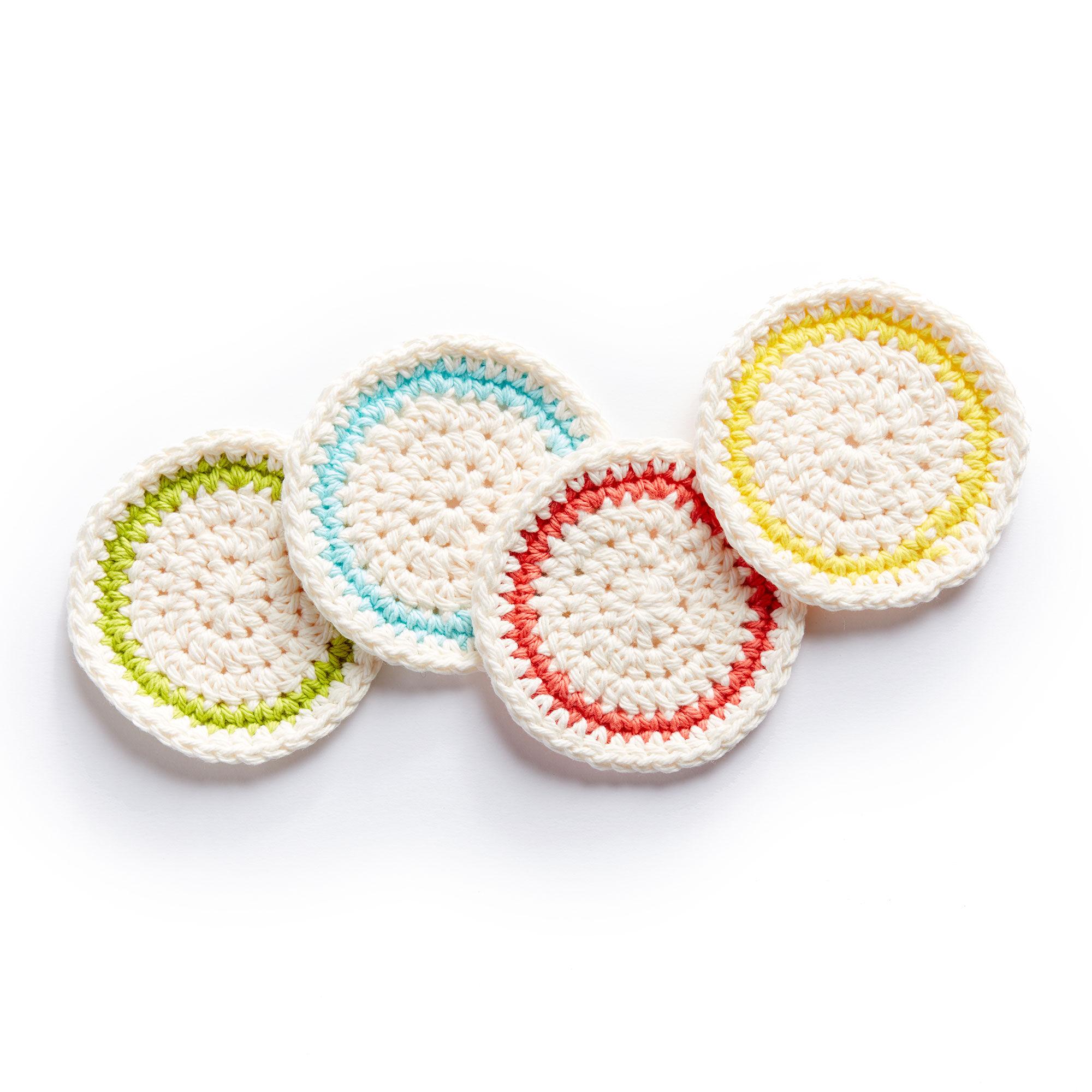 Lily Sugarn Cream Round About Crochet Coasters Yarnspirations