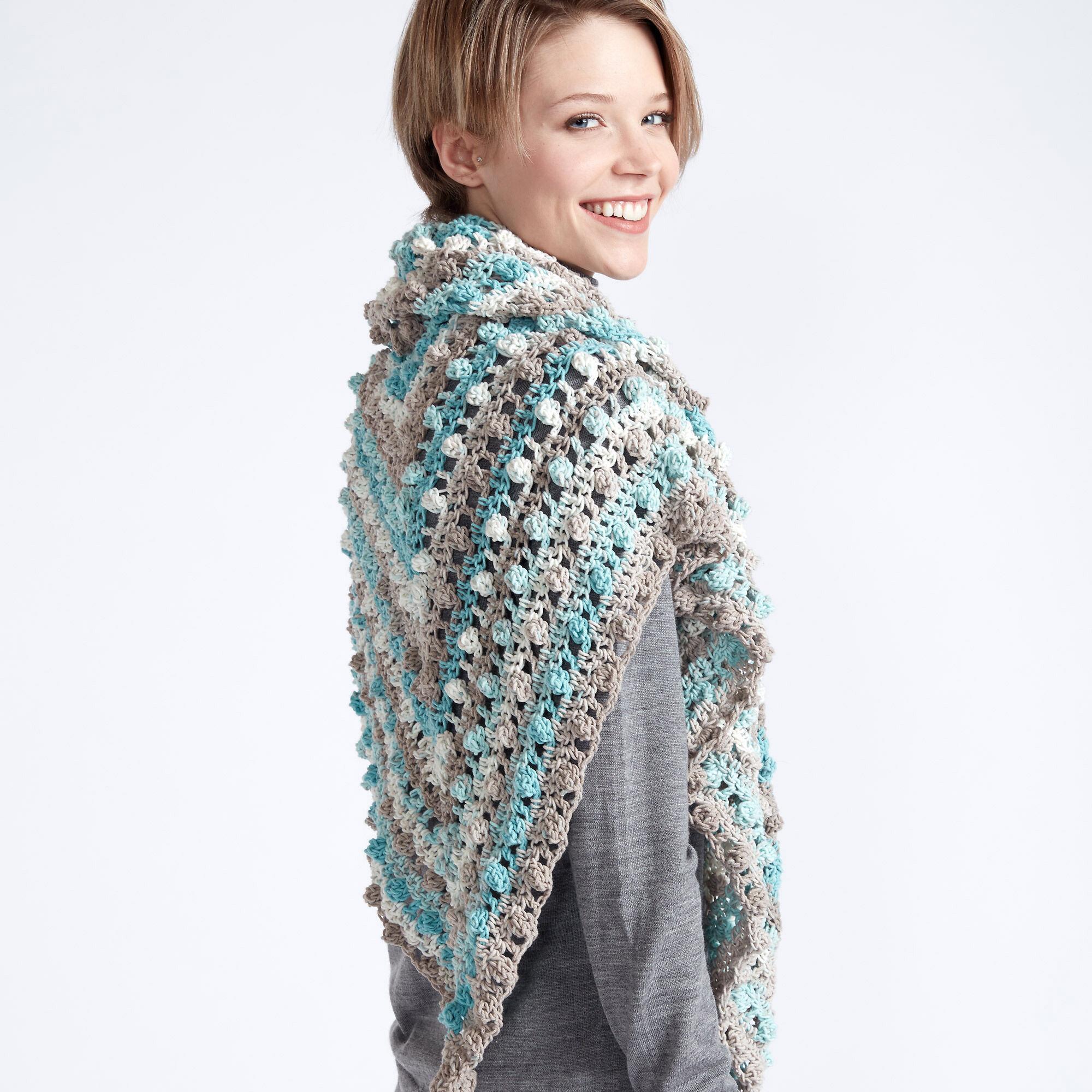 Caron Make a Point Crochet Shawl Pattern | Yarnspirations