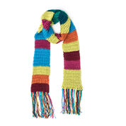 Caron Rib Crochet Mood Scarf, Softly Muted
