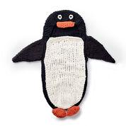 Bernat Knit Penguin Baby Sack