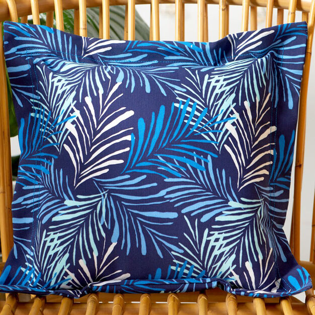 Coats & Clark Palm Print Outdoor Pillow with Flange