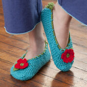 Red Heart Cottage Slippers, S
