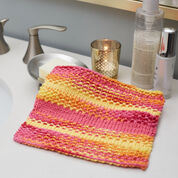 Red Heart Textured Stripes Washcloth