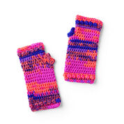 Go to Product: Red Heart Crochet Flamenco Wristers in color