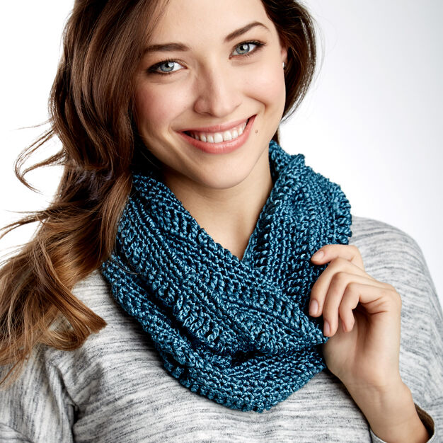 Patons Drapey Cowl in color