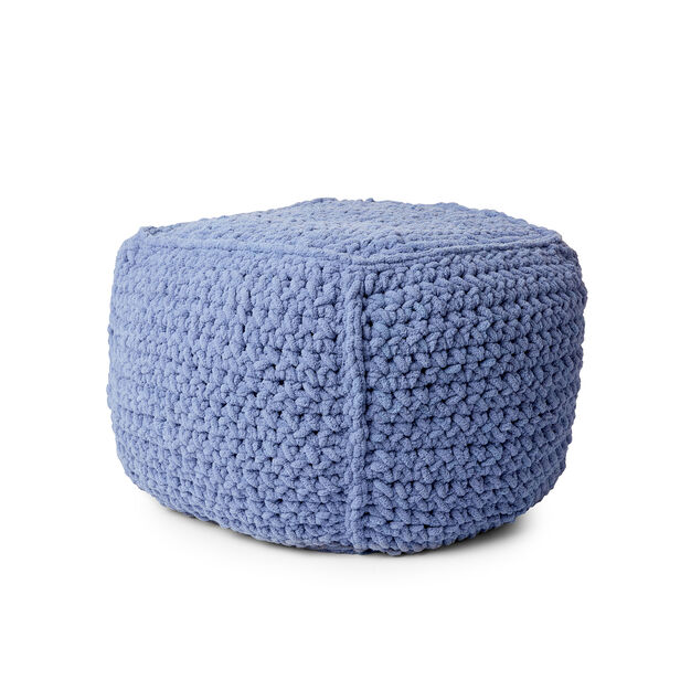 Bernat Crochet Pouf in color