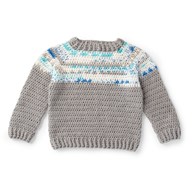 Red Heart Boy's Fair Isle Pullover, 2 yrs in color