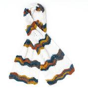 Caron Chevron Stripes Crochet Scarf