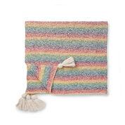 Caron Marled Knit Blanket