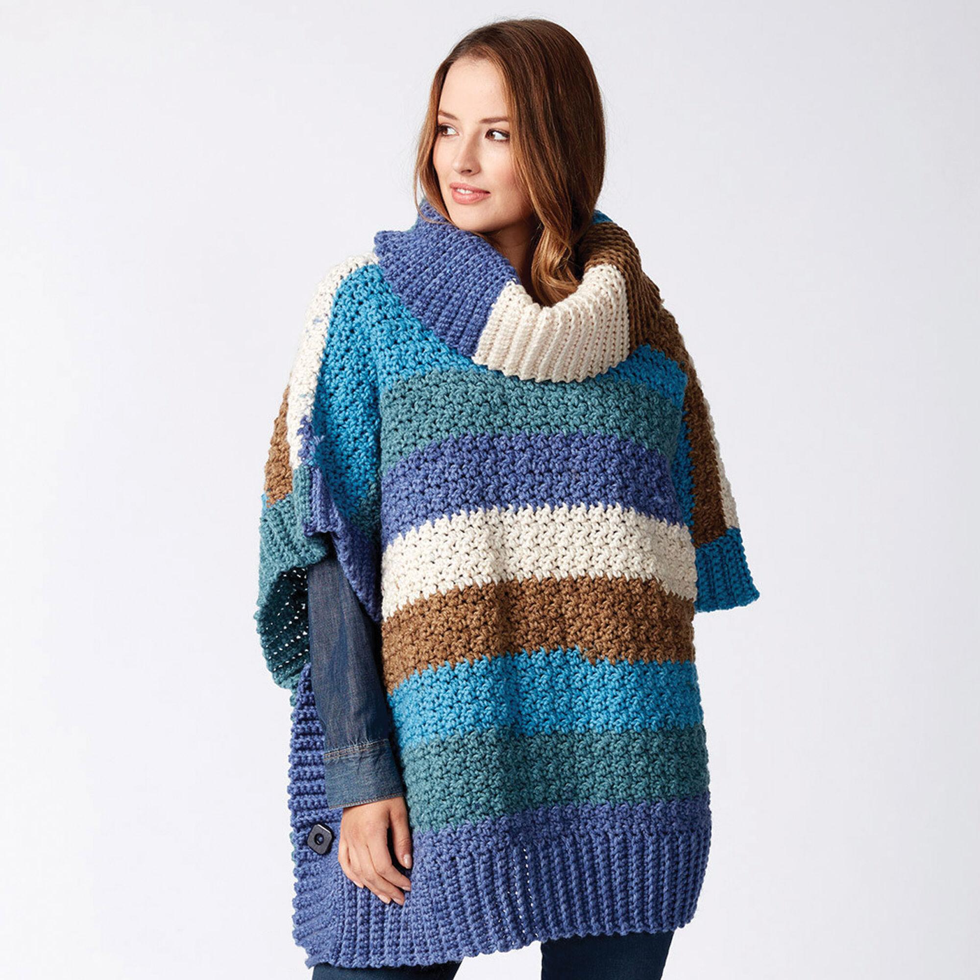 9e7768e3c99ea Bernat Mom and Me Crochet Ponchos, Snow Queen - Size 2 | Yarnspirations