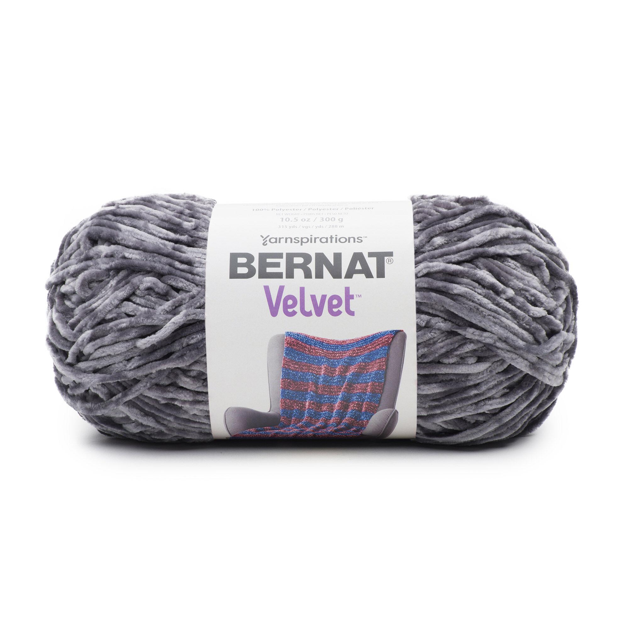 Bernat Velvet Yarn Vapor Gray Yarnspirations