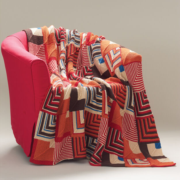 Caron Southwest Geometric Blanket