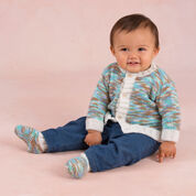 Go to Product: Red Heart Bouncing Boy Cardigan and Booties, 0/3 mos in color