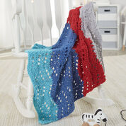 Go to Product: Red Heart One-Ball Gentle Ripple Crochet Baby Blanket in color
