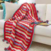 Go to Product: Red Heart Christmas Morning Striped Throw in color
