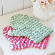 Red Heart Crochet Bath Mitt