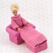 Red Heart Crochet Fashion Doll Snuggle Up with Sleeves