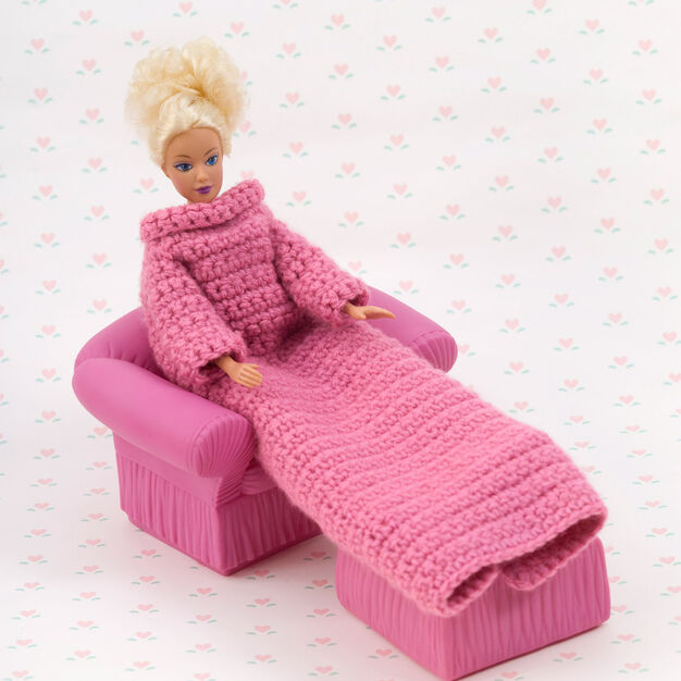 Red Heart Crochet Fashion Doll Snuggle Up with Sleeves in color
