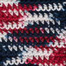 Lily Sugar'n Cream Ombres Yarn, Red, White & Blue Ombre in color Red, White Blue Ombre