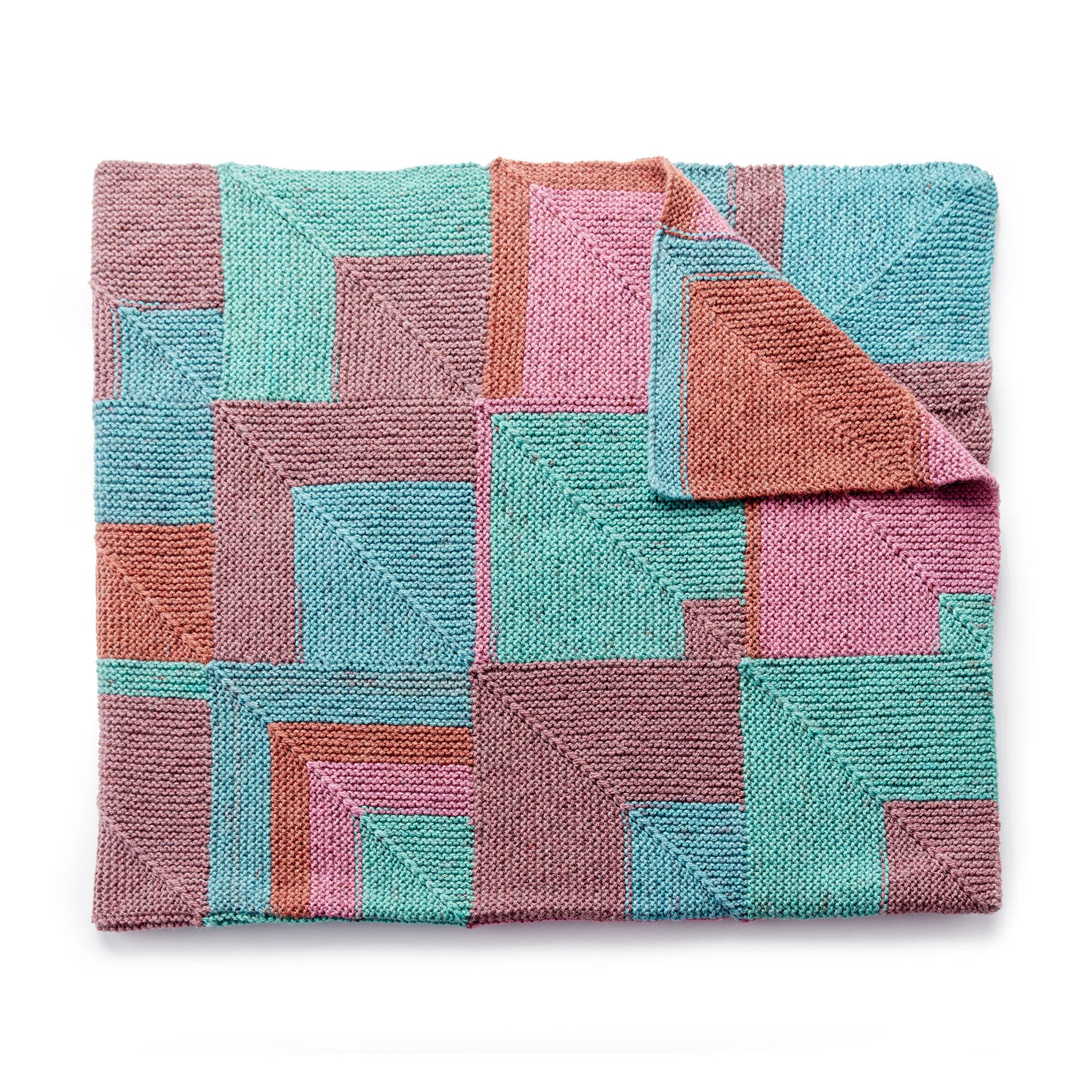 Caron Stack it Up Knit Afghan Pattern | Yarnspirations | Yarnspirations