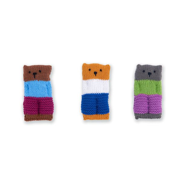 Caron Knit Square Stuffies in color