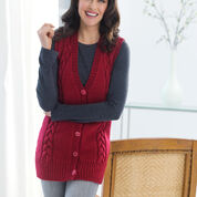 Go to Product: Red Heart Long Cabled Vest, S in color