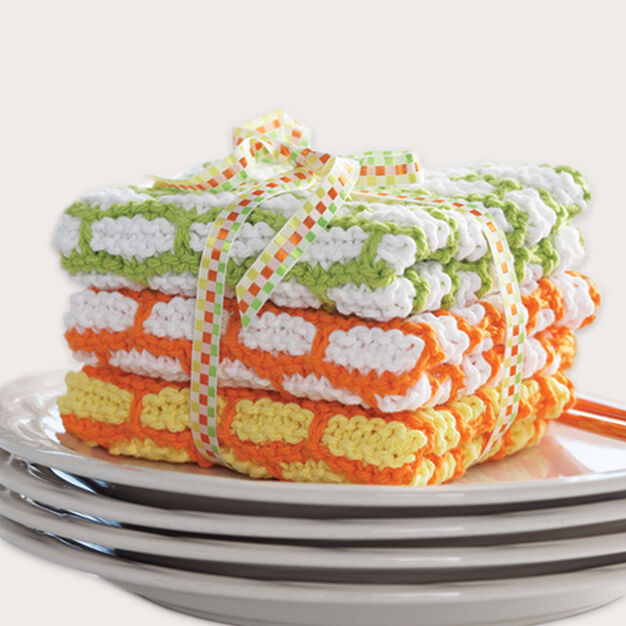 Bernat Brick Stitch Dishcloth