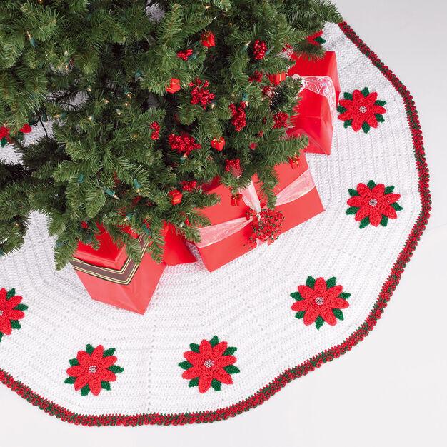 Red Heart Crochet Tree Skirt in color