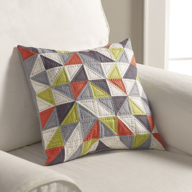 Coats & Clark Spinning Arrows Pillow in color