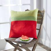 Coats & Clark Watermelon Patio Pillow for outdoor decor