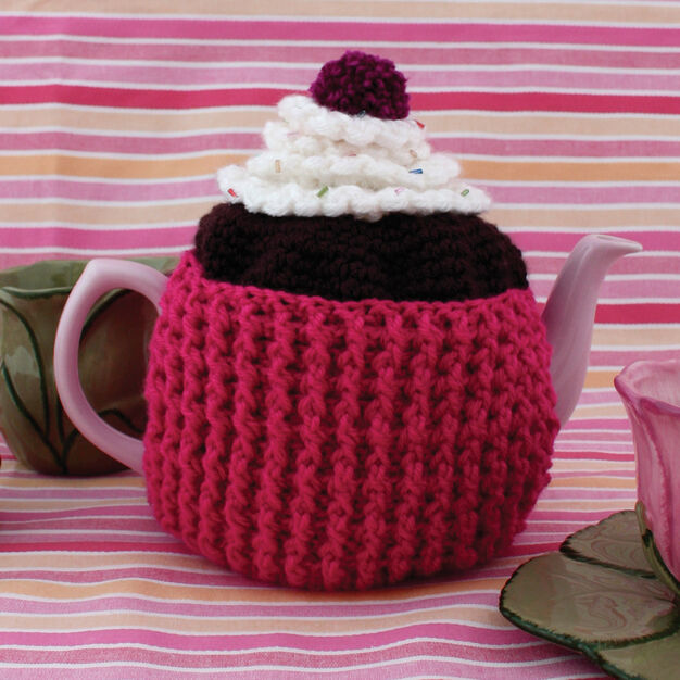 Patons Cupcake Tea Cozy in color