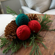 Go to Product: Red Heart Cabled Holiday Balls in color