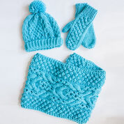 Bernat Chill Chaser Set (Hat, Mittens, Cowl), Green