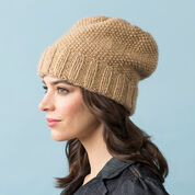 Red Heart Seed Stitch Slouchy Hat, S/M